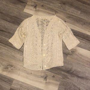 Sparkle short sleeved cardigan